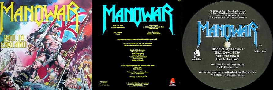 Manowar - Hail To England (Original Vinyl)